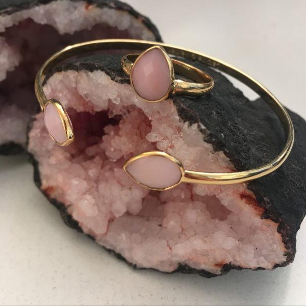 Bague dorée Opal Rose Victoria