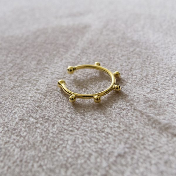 Bague d'Oreille dorée Mini Boules