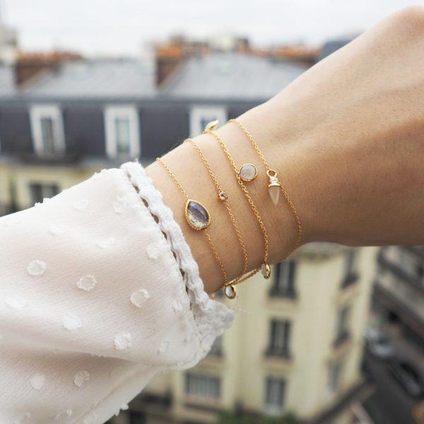 Bracelet doré labradorite Caprice
