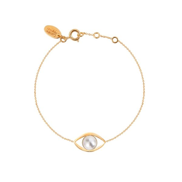 Bracelet doré lapis lazuli Eros