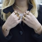 Bracelet plaqué argent onyx Fidji