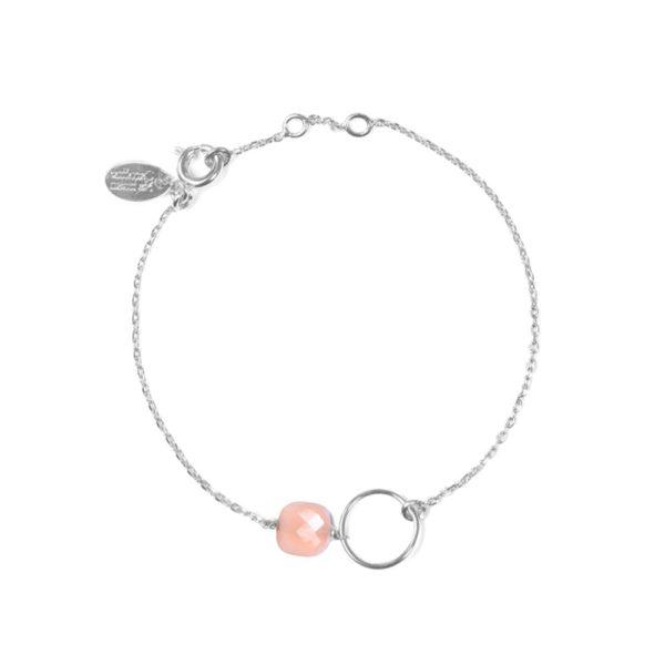 Bracelet argent opale rose Fidji