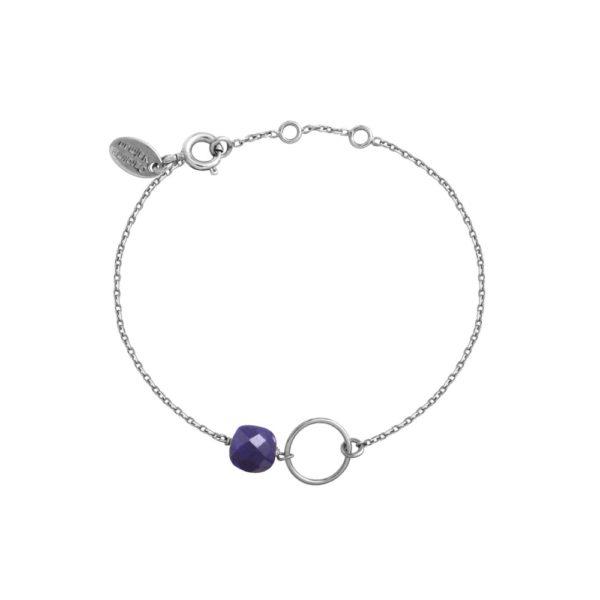 Bracelet doré Lapis lazuli Fidji