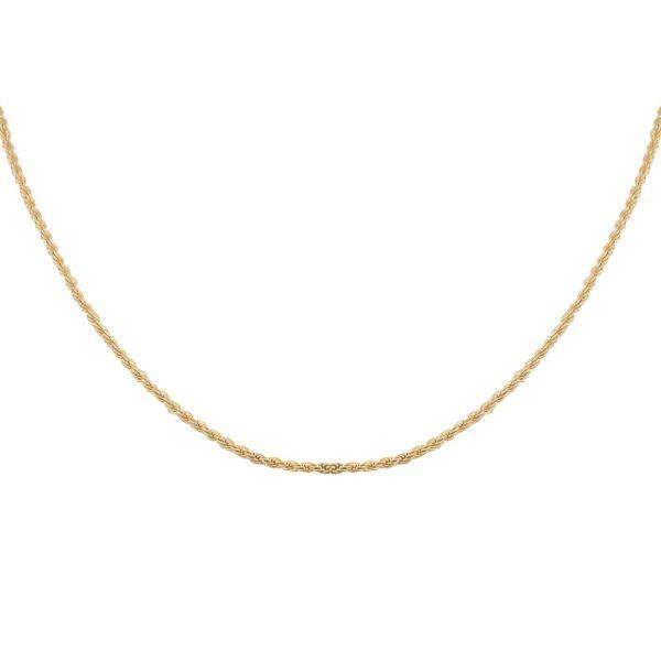 Collier Doré chaine simple corde