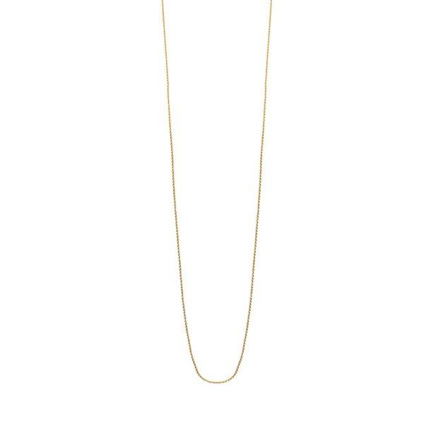 Sautoir doré chaine simple corde