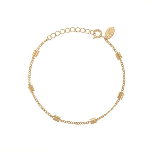 Bracelet doré chaine simple carré