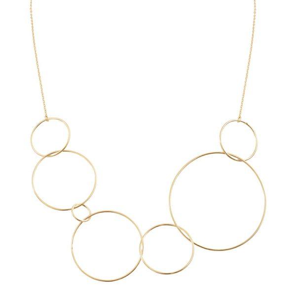 Collier doré Circle