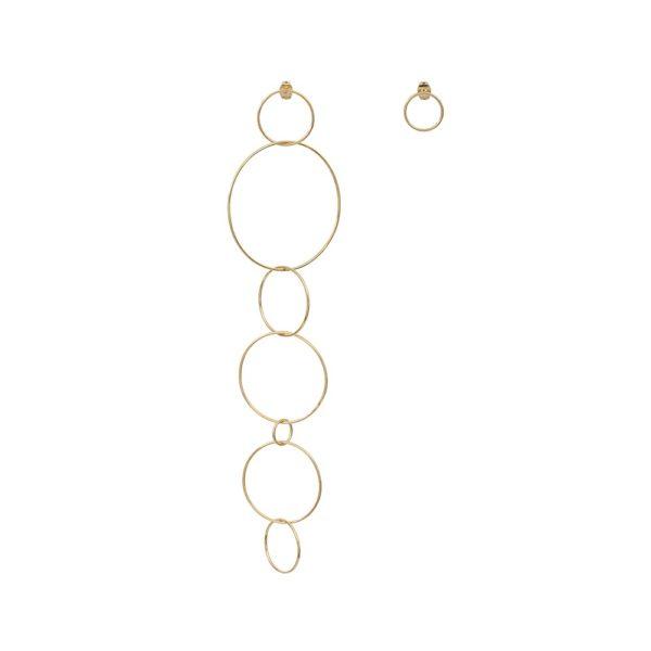 Boucles d'oreilles dorées Circle