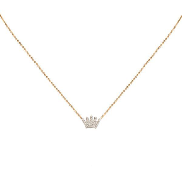 Collier doré Crown