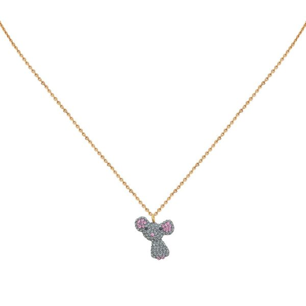 Collier doré Kuchi Mouse Kawaii
