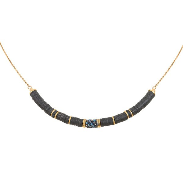 Collier doré Bermuda Blue Finerock GM