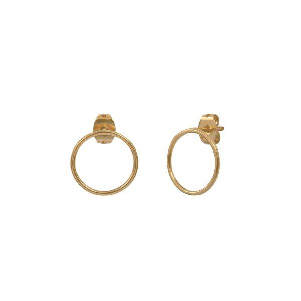 Boucles d'oreilles puces dorées Circle