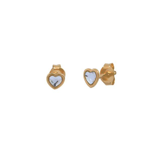 Boucles d'oreilles puces dorées Crystal Lovely