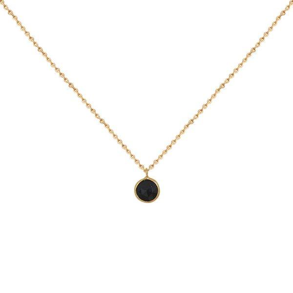 Collier doré Simple Moorea Onyx