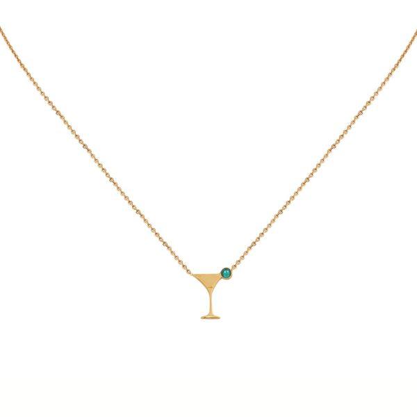 Collier doré Cosmopolitan Emerald