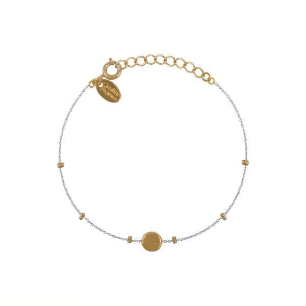 Bracelet doré Raw chaine argent