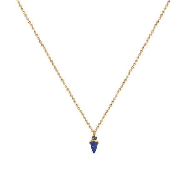 Collier doré Lapis Lazuli Sharp