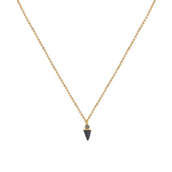 Collier doré Onyx Sharp
