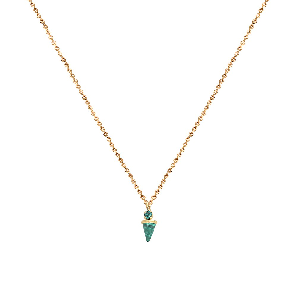 Collier doré Malachite Sharp