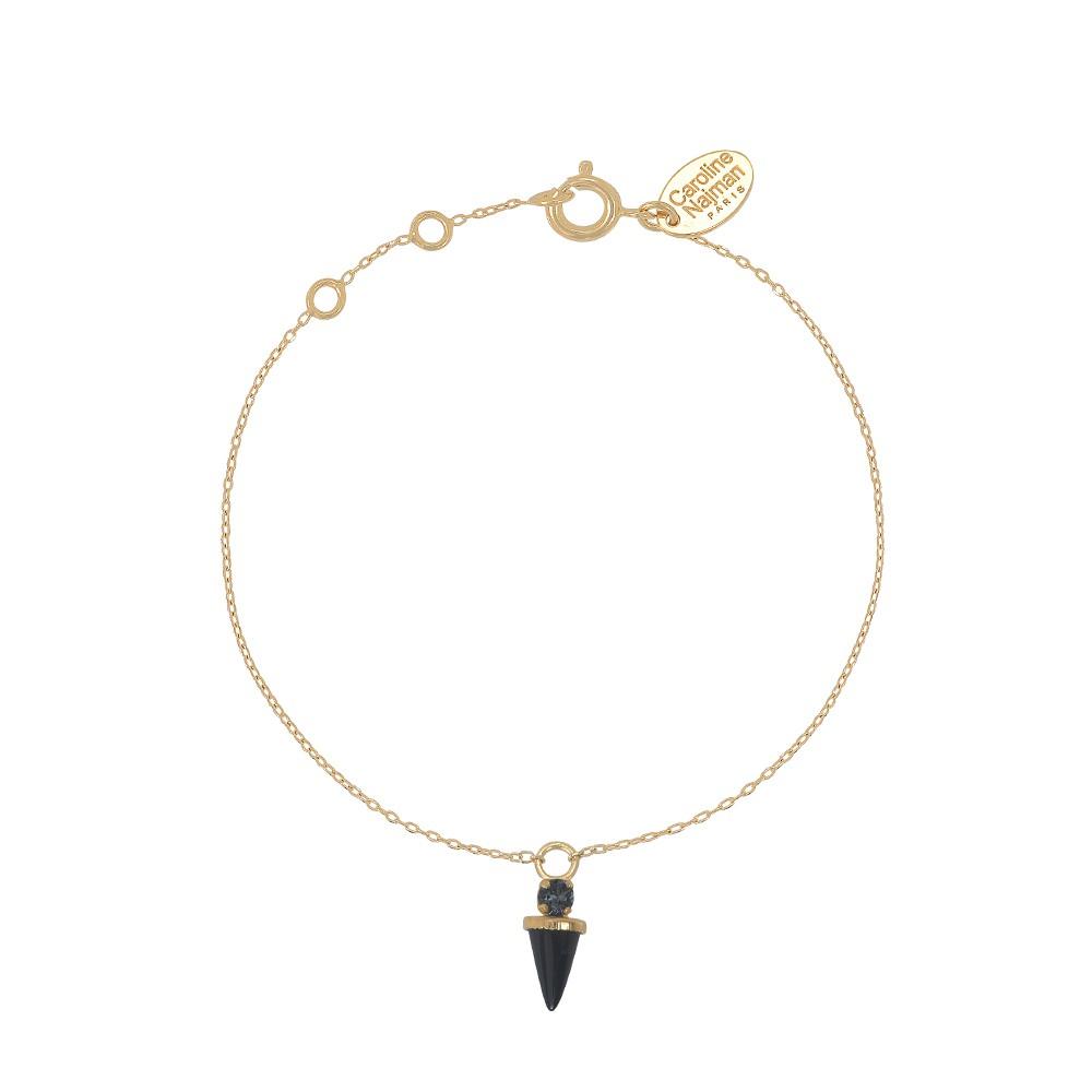 Bracelet doré Onyx Sharp