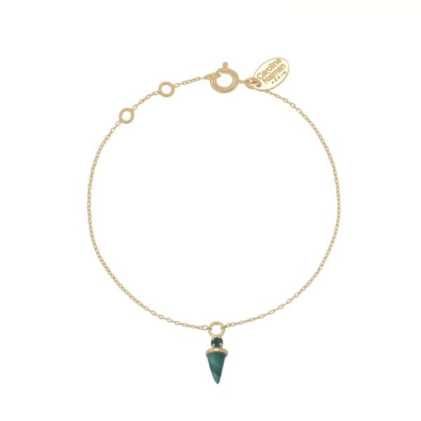 Bracelet doré Malachite Sharp
