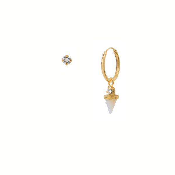 Créole dorée unique Nacre Blanche Sharp