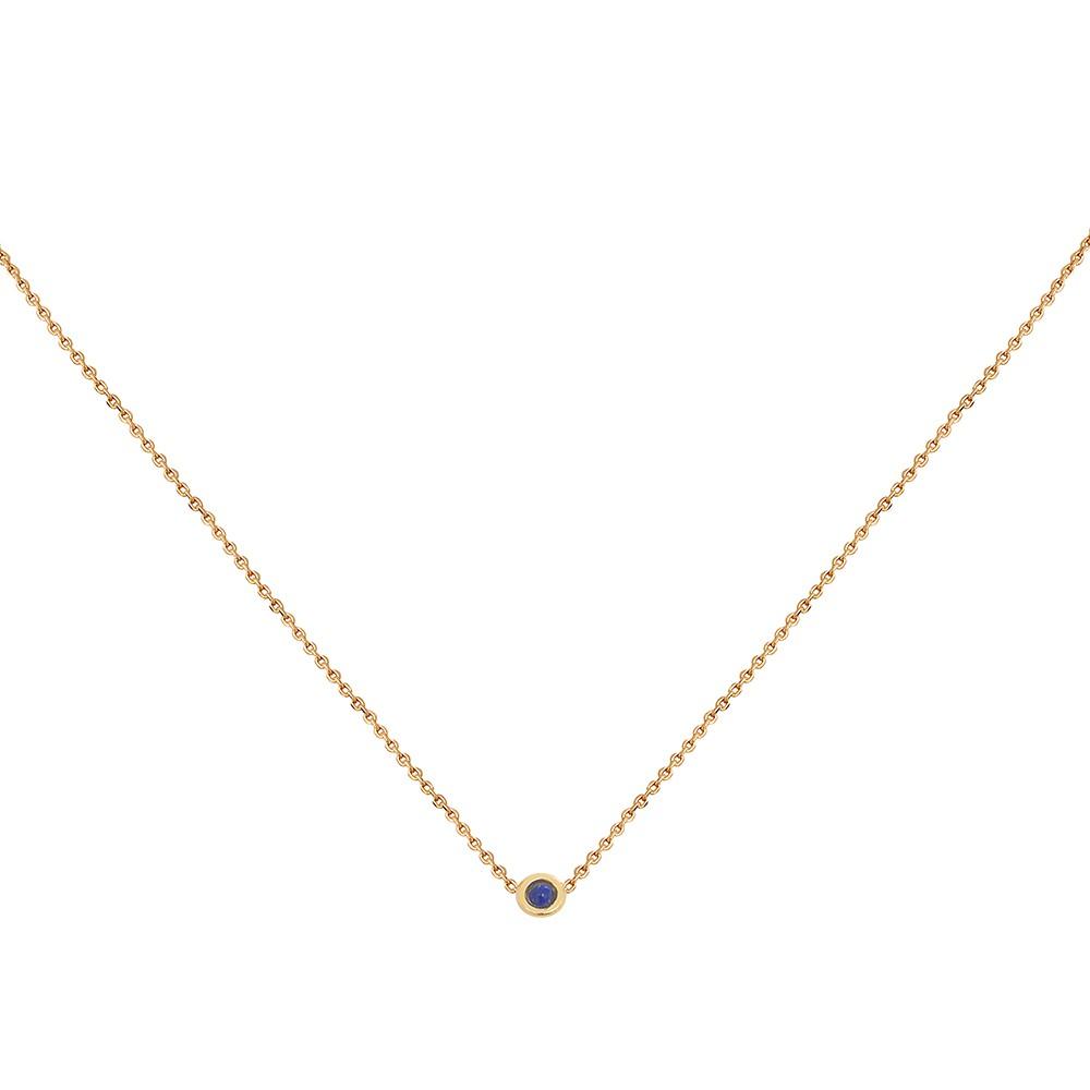 Collier doré Lapis Lazuli Tiny