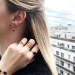 Boucles d'oreilles puces dorées Lapis Lazuli Tiny