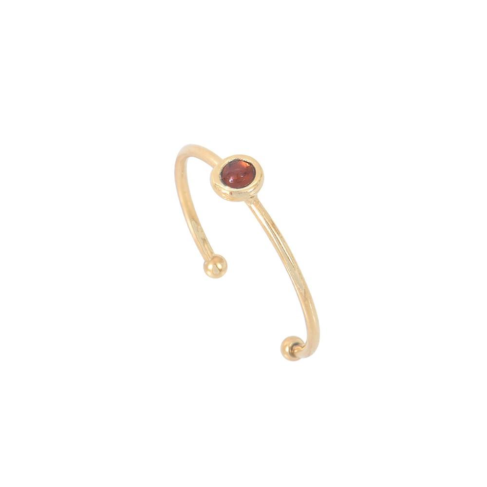 Bague ajustable dorée Grenat Tiny